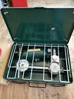Vintage Montgomery Wards Western Field 2 Burner Camp Camping Stove mint IN BOX!