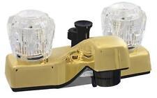 "Made Usa Rv Mobile Home 4"" Polish Brass Plastic Lav Sink Diverter Faucet P4402Pb"