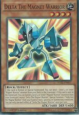 YU-GI-OH CARD: DELTA THE MAGNET WARRIOR - SUPER RARE - RATE-EN097 1ST EDITION