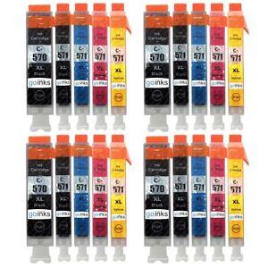 20 Ink Cartridges (5 Set) for Canon PIXMA MG5751 MG6852 TS5000 TS6051 TS9050