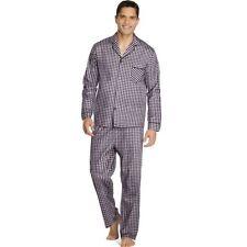 2 Hanes Men s Woven Pajamas LSLLBCWM S Burgundy Plaid 99949b9b7