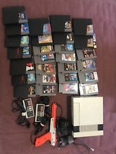 Nintendo Game System NES-001 Original 1985 Console+Zapper+2controllers +27 games