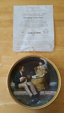 "Norman Rockwell Collectors Plate ""Pondering on the Porch"" Rediscovered Women"