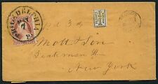 #15L14 & #11 ON COVER BLOOD'S DESPATCH MAY 7TH TO NEW YORK W/ ENCLOSURE BT5370