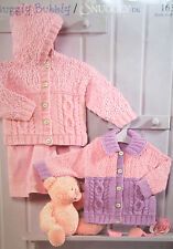 Baby's Hooded Cardigan/Jacket Knitting Pattern