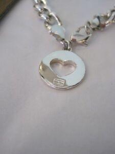 Silver Link Bracelet with Unique Heart Charm