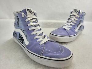 Vans Mens Old Skool Pro Purple High Top Lace Up Skateboard Shoes Size US 11