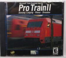 Video Game PC Microsoft Train Simulator Add-On Pro Train II NEW SEALED Jewel