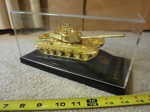 Academy of Armored Forces Engineering Award. Diecast Gold Tank, Chinese military