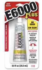 E6000 Plus No Odor 0.9 oz Adhesive Permanent Glue Rhinestone Crystal Clear