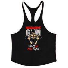 Para hombres Camisa Músculo Culturismo Stringer Camiseta sin mangas Gimnasio Singlet Fitness Sport Chaleco