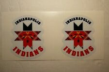 """(2) INDIANAPOLIS INDIANS (2.5"""" size) DIY Stickers Decals GREAT for YETI"""