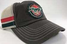 Ford Mustang Hat / Cap - Gray W/ White Mesh & Distressed Pony Logo / Emblem