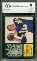 1962 Topps #90 Fran Tarkenton Rookie Card BGS BCCG 8 Excellent+