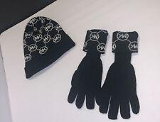 MICHAEL KORS Connecting Circle MK Logo Hat Gloves 2 PC Set
