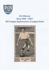 ERIC MASSEY BURY 1946-1957 RARE ORIGINAL HAND SIGNED MAGAZINE CUTTING
