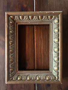 Vintage Solid Wood Carved Picture Frame 5x7