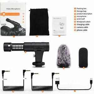 Mamen Mic-07 Pro Vlogging Video On Camera Microphone - DSLR Smartphone (UK) BNIB