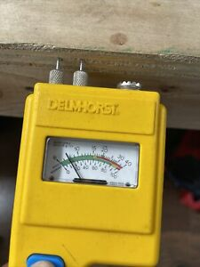 Delmhorst BD-10 Analog Moisture Meter With probes Yes Works No battery cover