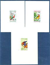 épreuve de luxe  Dahomey  série  oiseaux   1966/7   num: PA  37/41
