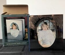 """International Silver Company Photo Album Book Holds 100 4"""" x 6"""" Pictures w/ Box"""