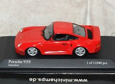 Minichamps 1/43 PORSCHE 959 RED 1987 Diecast Model 400062521