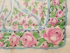 Vintage 100% Silk Scarf - floral design