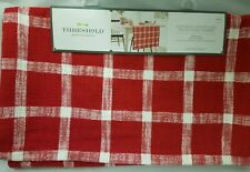 Threshold Extended Length & Width Table Runner Red Plaid Grid 20 X 90