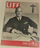 November 2, 1942 LIFE Magazine old ads FREE SHIP Nov 11 USS IOWA 1940s