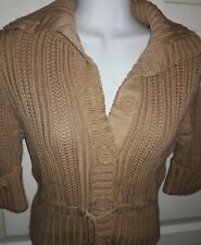 "Women's Medium Camel ""Copper Key"" Cardigan/Sweater"