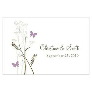 24pk Personalized Romantic Butterfly Large Rectangular Tags Wedding Favors