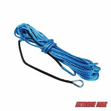"""Extreme Max """"The Devil's Hair"""" Synthetic ATV / UTV Winch Rope - Blue"""