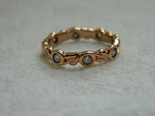 Clogau 9ct Welsh Gold Tree of Life Eternity Diamond Ring size K RRP £1,375.00