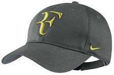 NEW Nike Hybrid RF Roger Federer Hat 371202-016 Base Grey / Venom Green