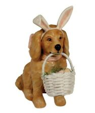 Bethany Lowe Easter Puppy Dog Bunny Ears Eggs Basket Figurine Decoration