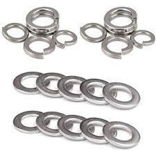 M12 304 Stainless Steel Flat Washer & Split Spring Lock Assortment Set, /Pack