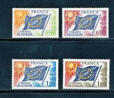 FRANCE 1975-76 COUNCIL OF EUROPE SET SCOTT 1O16-1O19