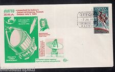 A 41 ) Spain Spanien Special Cover Halley's Comet, Giotto Mission, ESA, Space, I