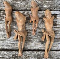 Art Populaire Ébauche de Christ Sculpture Bois Ancien Atelier d Artiste XIXeme
