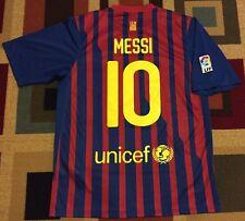 ~Vintage~2011-12~Nike~Lionel Messi~FC Barcelona~Soccer Jersey~LFP~Men's Large~L