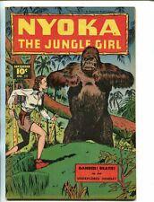 NYOKA THE JUNGLE GIRL #11 1947-FAWCETT-GORILLA COVER-BOUND-GAGGED-vf minus