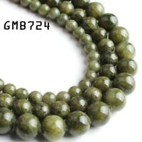 dark green jade stone round loose beads jewelry making 15'' strands 6/8/10mm