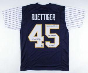 Rudy Ruettiger Signed Notre Dame Shamrock Series Jersey (Rudy Holo) Yankee Stdm