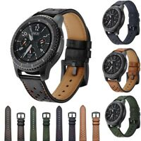 Genuine Leather Strap Belt Watch Band For Samsung Gear S3 Frontier Classic 22mm