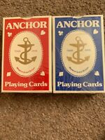 2 x Anchor Playing Cards Decks 1 Red & 1 Blue