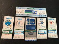Vintage SEATTLE SEAHAWKS Ticket Stubs (1977-1985) Lot Of 6 Kingdom