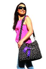 Black Fashion Carry Diaper Nappy Bag (wipe case and pram strap inc) Stars