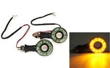 2 X Motorcycle LED Indicators Assembly BIKE INDICATOR LIGHT for All Bikes-WHITE.