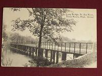 RPPC Three Rivers Michigan MI St. Joe River  Antique Photo Postcard Vintage