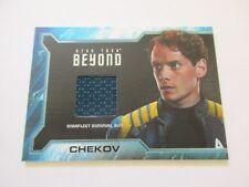 2017 Star Trek Beyond Movie Trading Cards Chekov Costume Relic Card SR8 Pattern